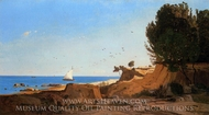 Around the Cap-Couronne near Marseille painting reproduction, Paul-Camille Guigou