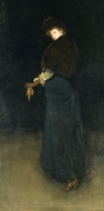 Arrangement in Black (The Lady in the Yellow Buskin) painting reproduction, James McNeill Whistler