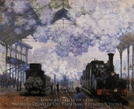 Arrival at Saint-Lazare Station painting reproduction, Claude Monet