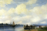 Arrival of Peter the First to Neva painting reproduction, Ivan Aivazovskiy