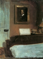 Artist's Bedroom in Nyack painting reproduction, Edward Hopper