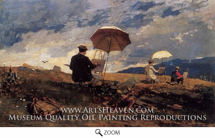 Painting Reproduction of Artists Sketching in the White Mountains, Winslow Homer