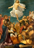 Ascension of Christ painting reproduction, Giacomo Cavedone