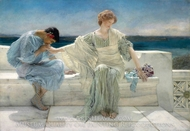 Ask Me No More painting reproduction, Sir Lawrence Alma-Tadema