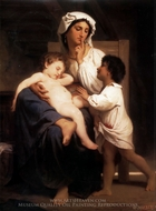 Asleep at Last (Le sommeil) painting reproduction, William Adolphe Bouguereau
