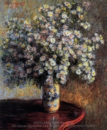 Asters painting reproduction, Claude Monet
