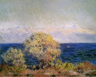 At Cap d'Antibes, Mistral Wind painting reproduction, Claude Monet