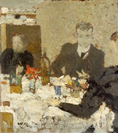 At Table painting reproduction, Edouard Vuillard
