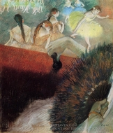 At the Ballet painting reproduction, Edgar Degas
