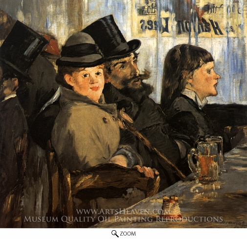 Painting Reproduction of At the Cafe, Edouard Manet