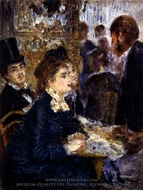At the Cafe painting reproduction, Pierre-Auguste Renoir