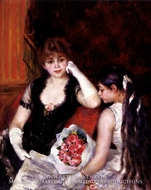 At the Concert (Box at the Opera) by Pierre-Auguste Renoir