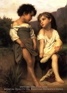 At the Edge of the Brook (Au Bord du Ruisseau) by William Adolphe Bouguereau