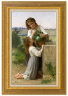 At the Fountain (A la Fontaine) painting reproduction, William Adolphe Bouguereau