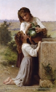 At the Fountain (A la Fontaine) by William Adolphe Bouguereau