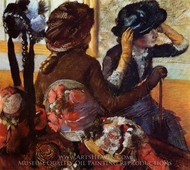 At the Milliner's painting reproduction, Edgar Degas