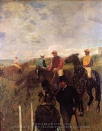 At the Races painting reproduction, Edgar Degas