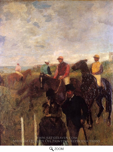 Edgar Degas, At the Races oil painting reproduction