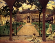 At Torre Galli: Ladies in a Garden painting reproduction, John Singer Sargent
