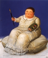 Autorretrato painting reproduction, Fernando Botero
