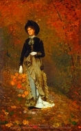 Autumn painting reproduction, Winslow Homer