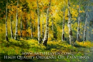 Autumn Colors with White Oaks painting reproduction, Various Artist
