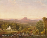 Autumn Landscape, Sugar Loaf Mountain, Orange County, New York by Jasper Francis Cropsey