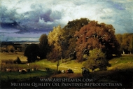 Autumn Oaks painting reproduction, George Inness
