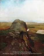 Autumn Study, View over Hanging Rock, Newport, R.I. by John La Farge