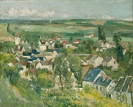 Auvers sur Oise painting reproduction, Paul Cezanne