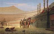 Ave Caesar, Morituri te Salutant painting reproduction, Jean-Leon Gerome