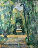 Avenue at Chantilly painting reproduction, Paul Cezanne
