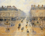 Avenue de l'Opera: Snow Effect by Camille Pissarro