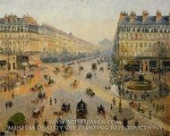 Avenue de l'Opera: Sunshine Winter Morning by Camille Pissarro