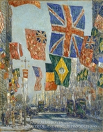 Avenue of the Allies, Great Britain, 1918 by Childe Hassam