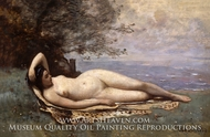 Bacchante by the Sea painting reproduction, Jean-Baptiste Camille Corot