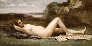 Bacchante in a Landscape painting reproduction, Jean-Baptiste Camille Corot