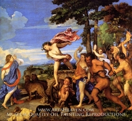 Bacchus and Ariadne painting reproduction, Titian