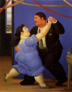 Bailarines painting reproduction, Fernando Botero