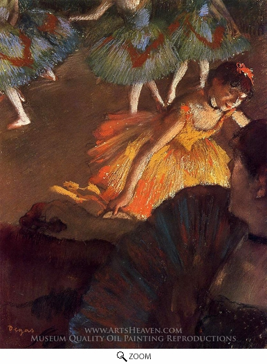 Edgar Degas, Ballerina and Lady with a Fan oil painting reproduction