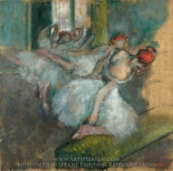 Ballet Dancers painting reproduction, Edgar Degas