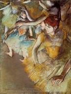 Ballet Dancers on the Stage painting reproduction, Edgar Degas