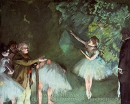 Ballet Rehearsal painting reproduction, Edgar Degas