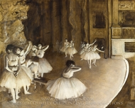 Ballet Rehearsal on Stage painting reproduction, Edgar Degas
