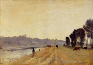 Banks of a River painting reproduction, Jean-Baptiste Camille Corot