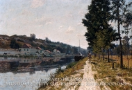 Banks of the Loing painting reproduction, William Lamb Picknell