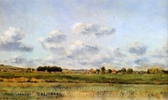 Banks of the Loing painting reproduction, Charles Daubigny