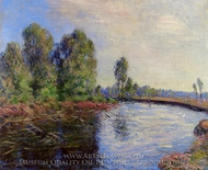 Banks of the Loing painting reproduction, Alfred Sisley