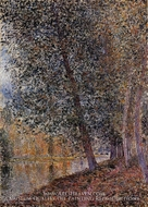 Banks of the Loing, Autumn by Alfred Sisley