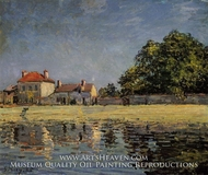Banks of the Loing, Saint-Mammes by Alfred Sisley